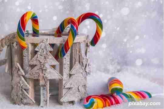 permen J, permen natal, ide dekorasi natal