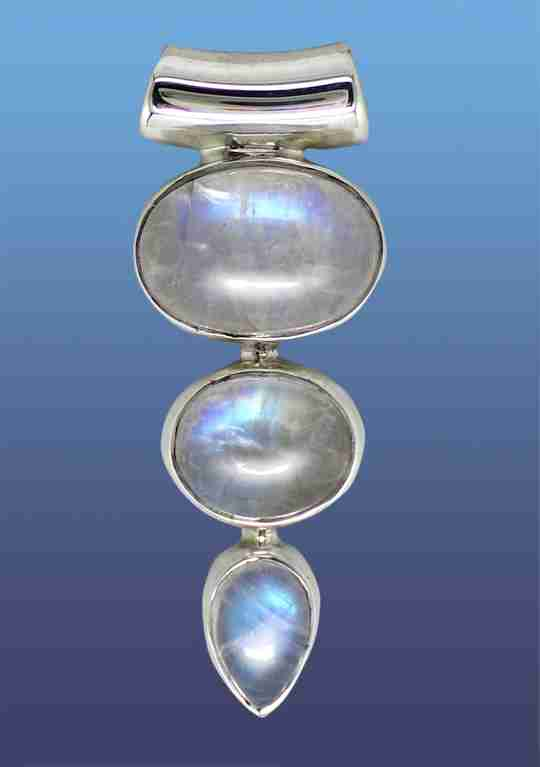 A piece of moonstone jewelry