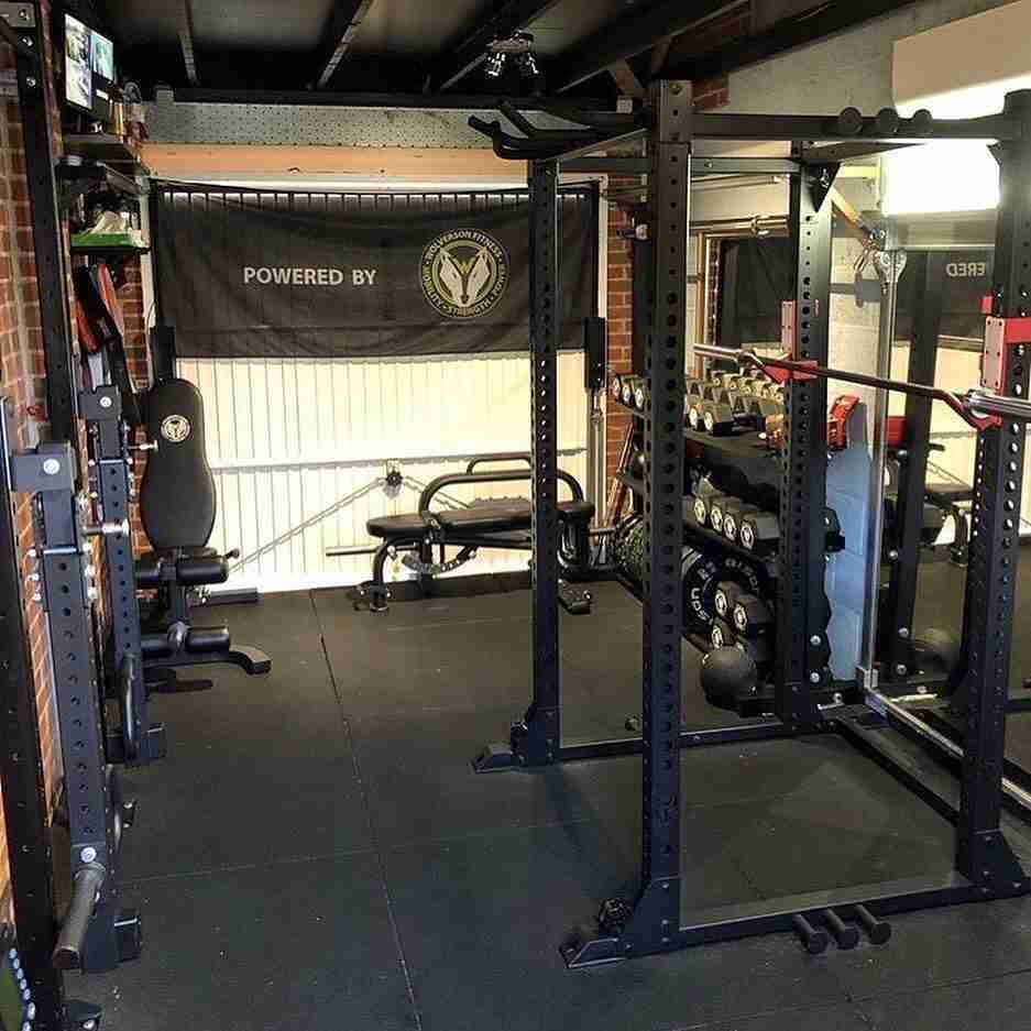 Garage Gym Setup with Full Rack
