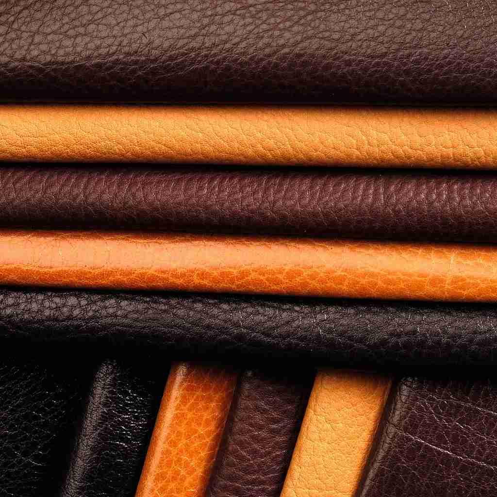 image of pu leather close up