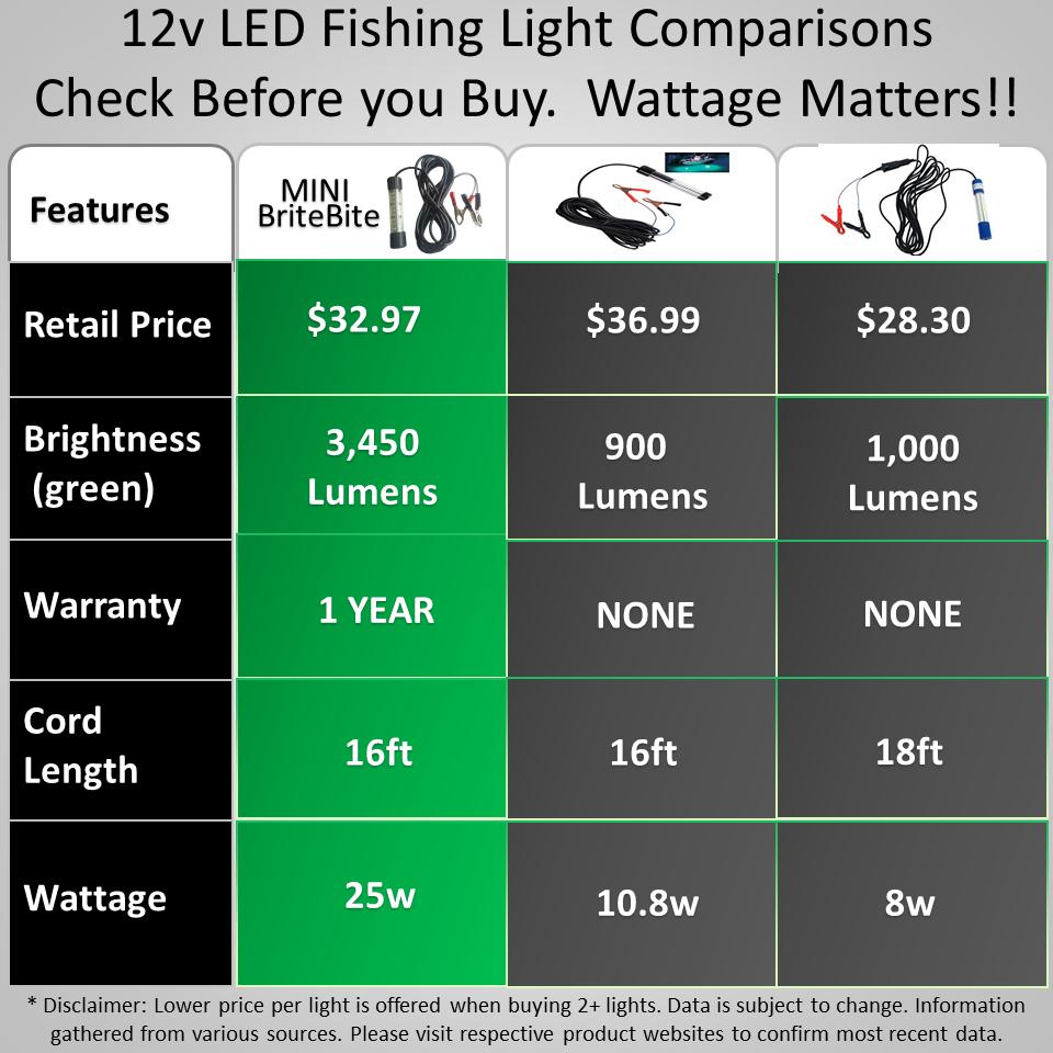 LED night fishing lights