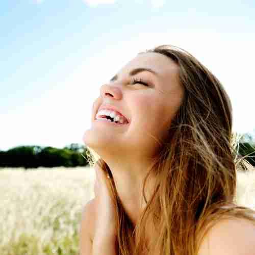 Woman Happy In Sun