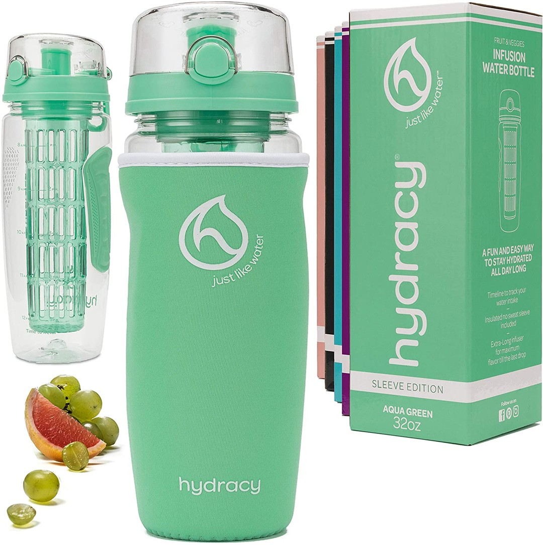 32oz Infuser Water Bottle Sleeve Edition
