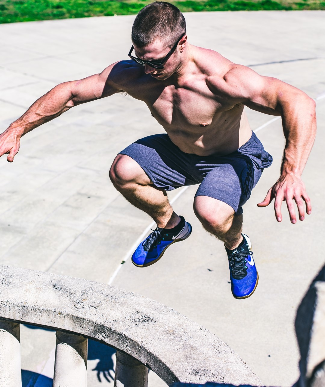 An athlete building explosive strength power with Plyometric and Ballistic training.