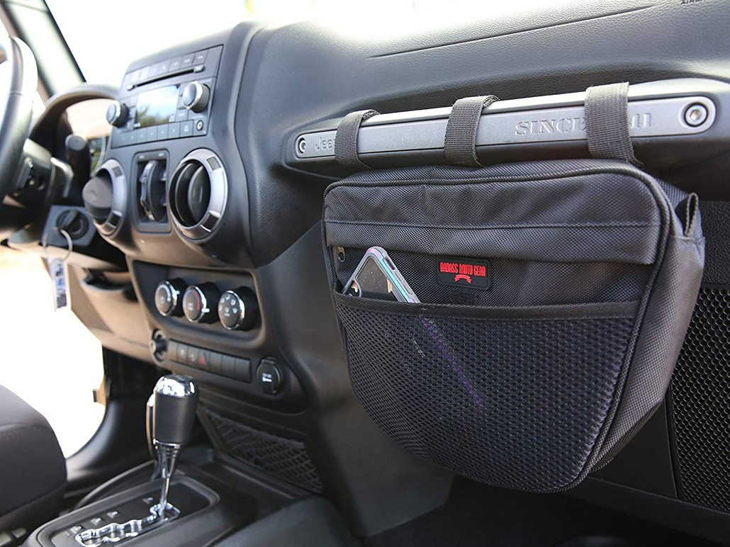 Jeep Wrangler Phone Holder Storage Organizer Bag