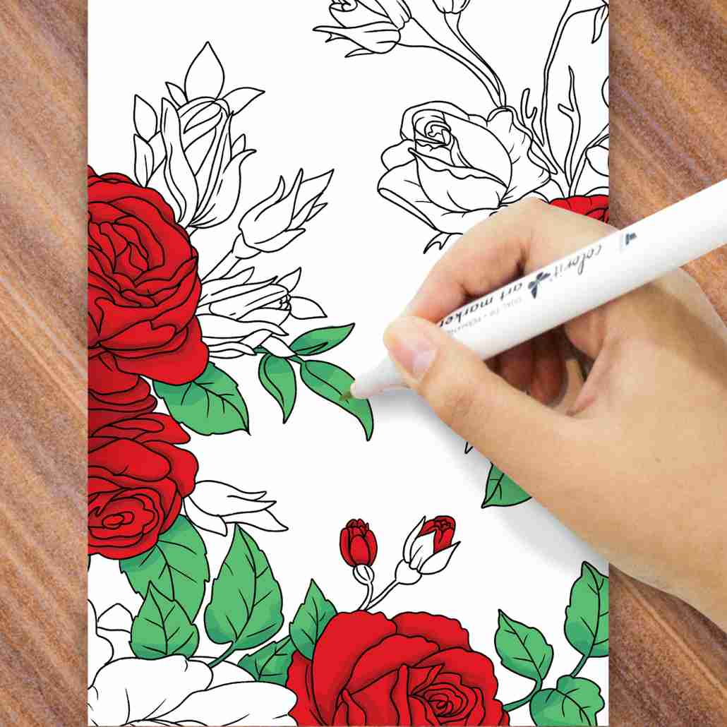 ColorIt Flowers Greeting Cards