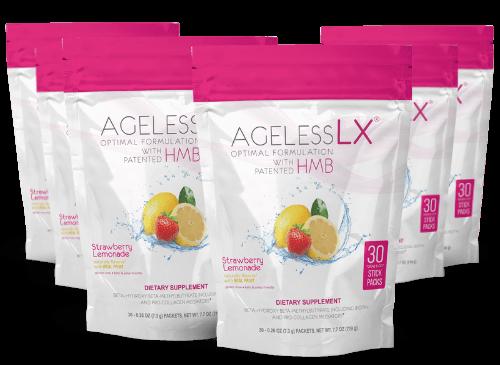 6 Bags AgelessLX Strawberry Lemonade