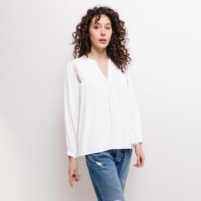 Lauren Long Sleeve Blouse White
