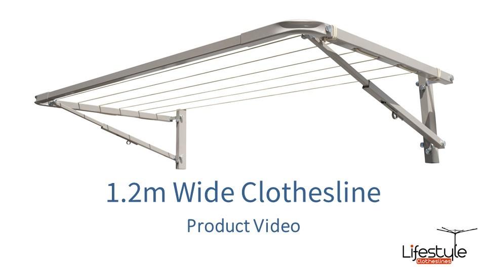 1.2m wide clothesline