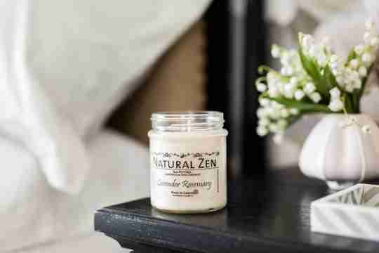 Lavender Rosemary Candelilla and Coconut Natural Candle