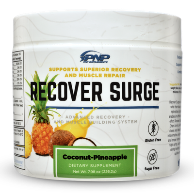 Post workout supplements by PNP Supplements Recover Surge.