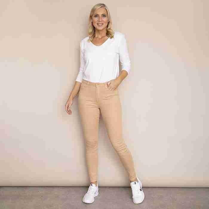 Kylie Cotton Trousers(Beige)