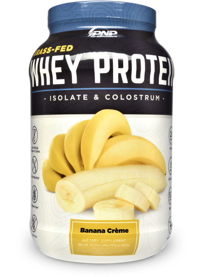 Grass-Fed Whey Protein Isolate and Bovine Colostrum by PNP Supplements.