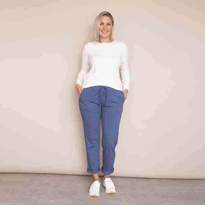 Ciara Joggers - Plus Size (Denim Blue)
