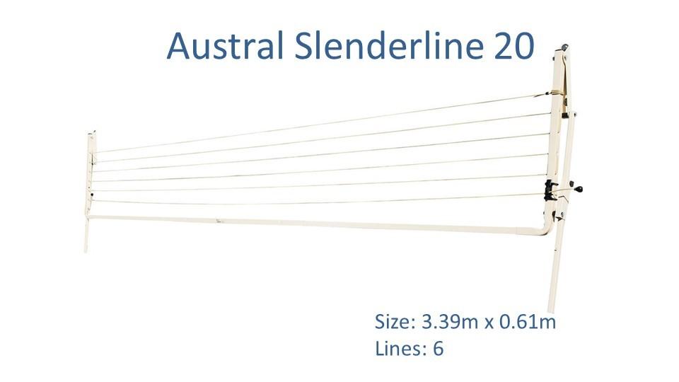 3.4m clothesline austral slenderline 20