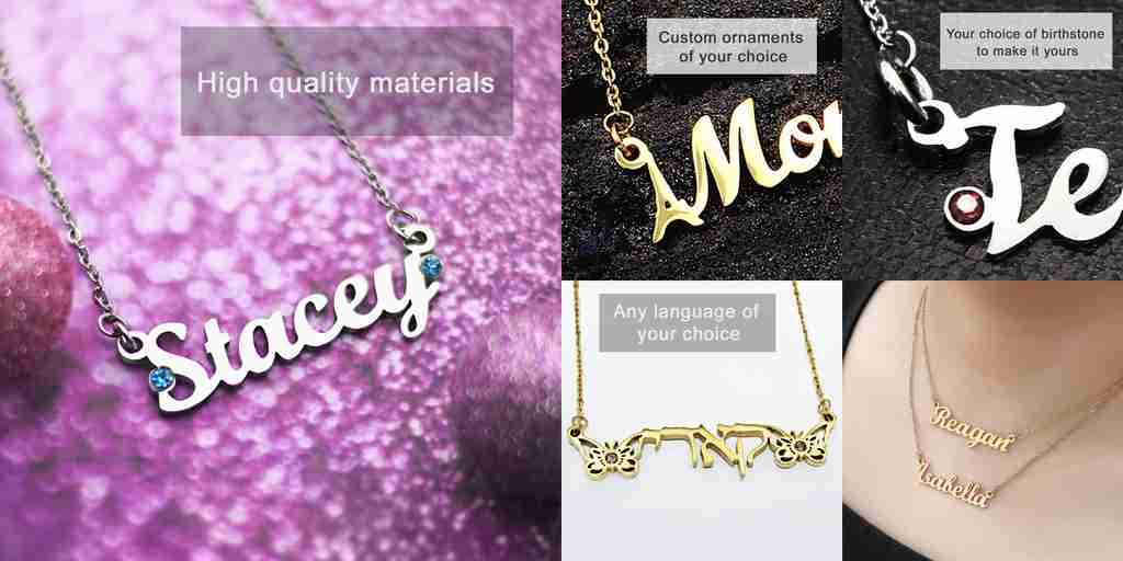 Name Necklaces Collection by Belle Fever Personalised Jewellery