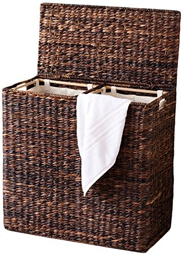compartmentalised laundry basket