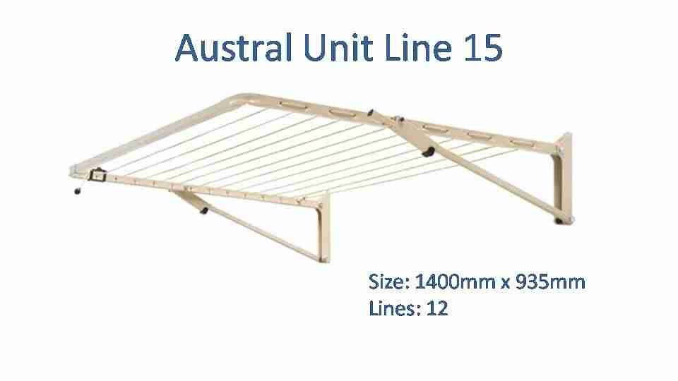 austral Unit Line 15 1400mm by 935mm clothesline