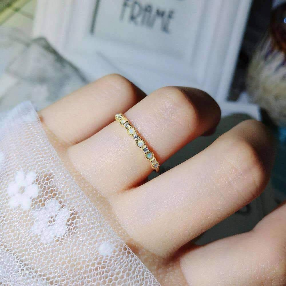Debra dots opal ring