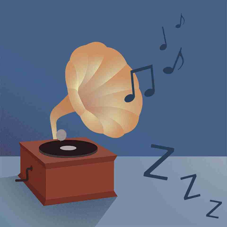 Choose or create a playlist with calming music to help you doze off.
