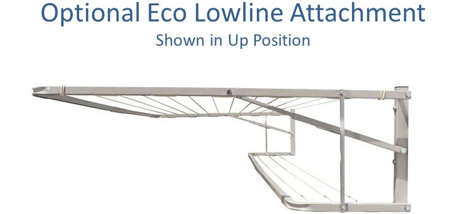 eco lowline attachment for 2.7m wide clotheslines like the Eco 270