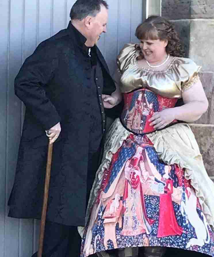 Nicole Kirkwood and David on a photography club photo shoot, they are sought after steampunk gothic victorian mature models in Sydney