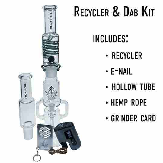 Freeze Pipe Recycler, e-nail and dab kit bundle