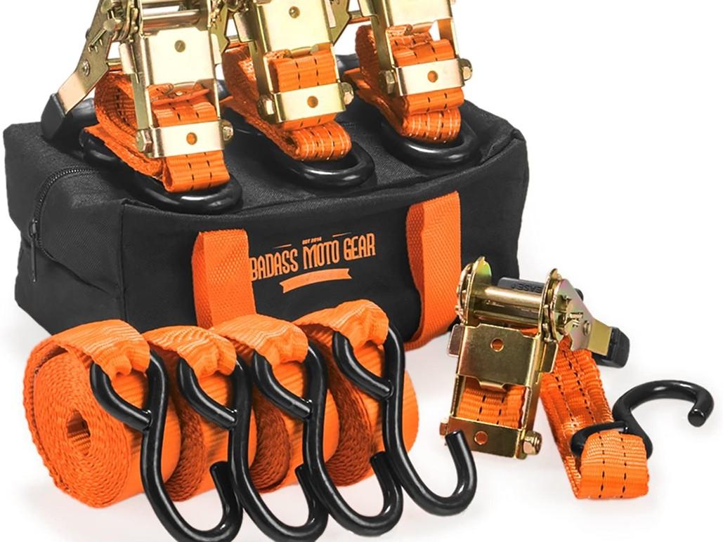 Heavy Duty Ratchet Straps Tie Downs S Hooks- 1.5 in x 10 4 Pck