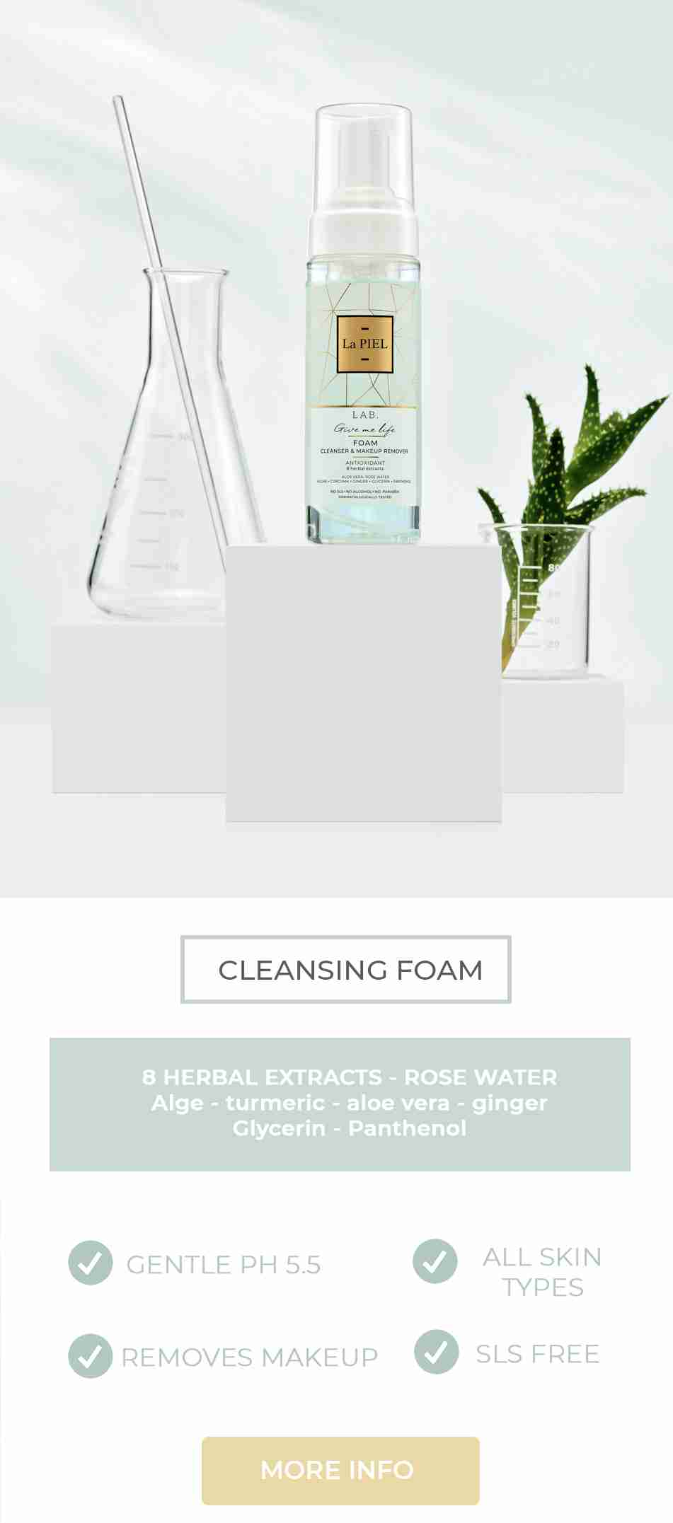 Face Cleansing Foam La PIEL LAB Natural Skincare