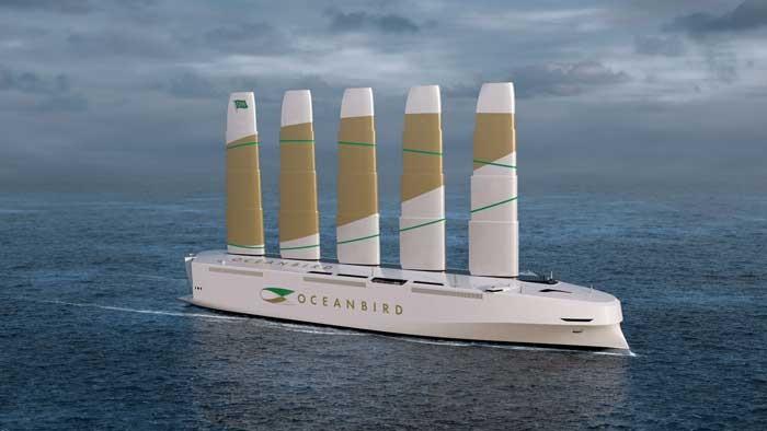 Wind powered Ocean Bird ocean freight