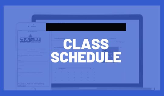RABJJ Academy Class Schedule