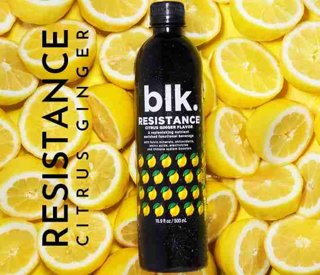 blk. Resistance Citrus Ginger Excellent For Boosting Immune System All Natural Spring Water