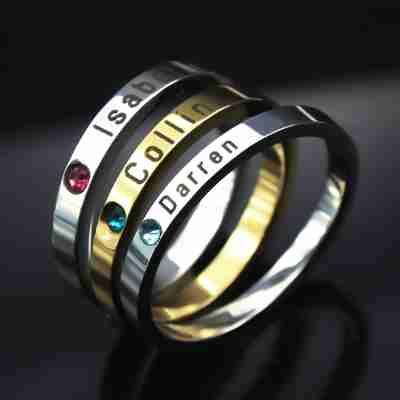 stackable personalised ring