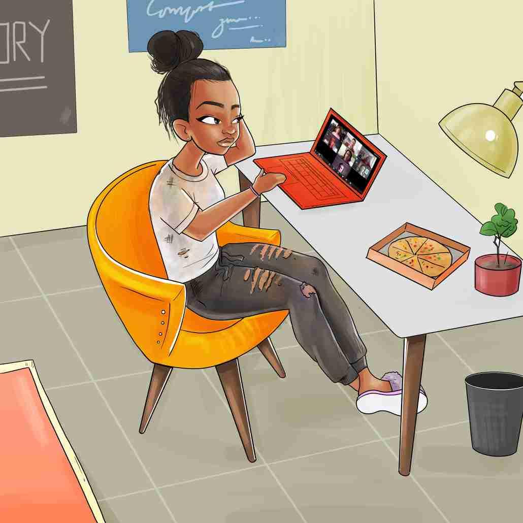 Messy Sweats Illustration