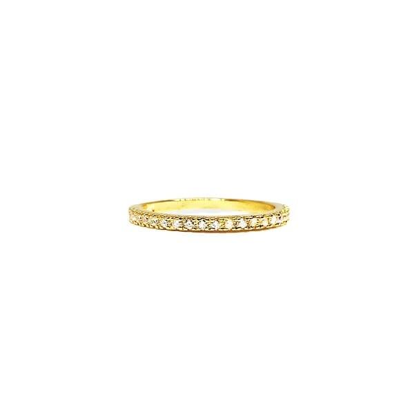 Brianna Bezel 18K Gold Vermeil Ring