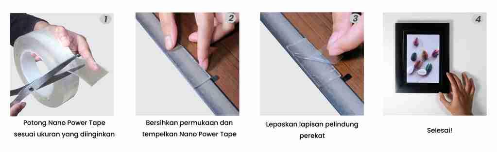cara penggunaan nano tape