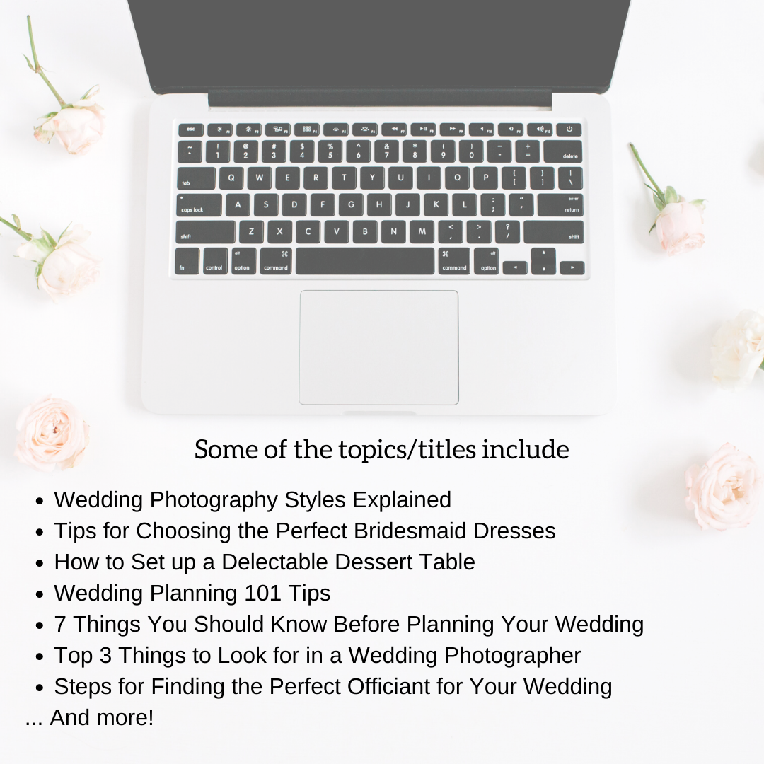 Sample Wedding Blog Post for Wedding Professionals and Wedding Vendors