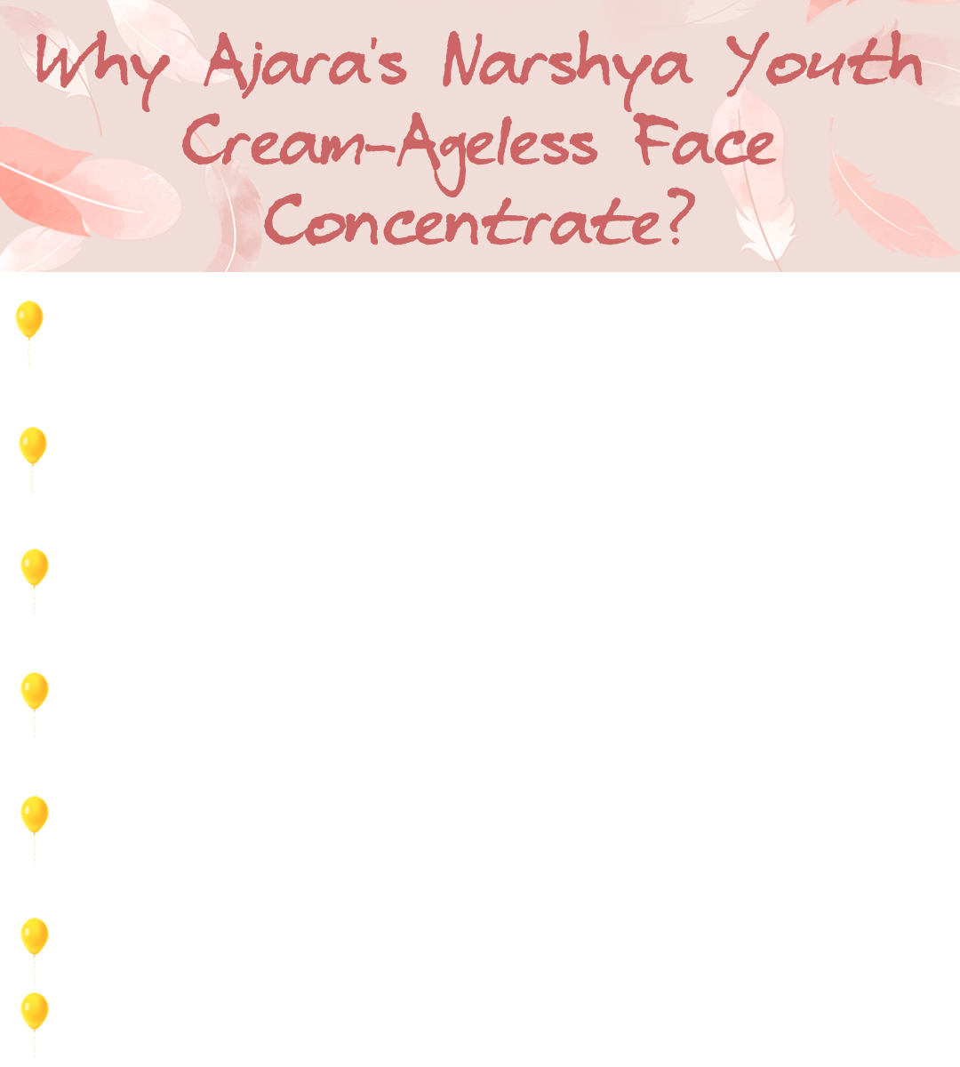 Narshya Youth Cream - What makes it a one-of-a-kind?