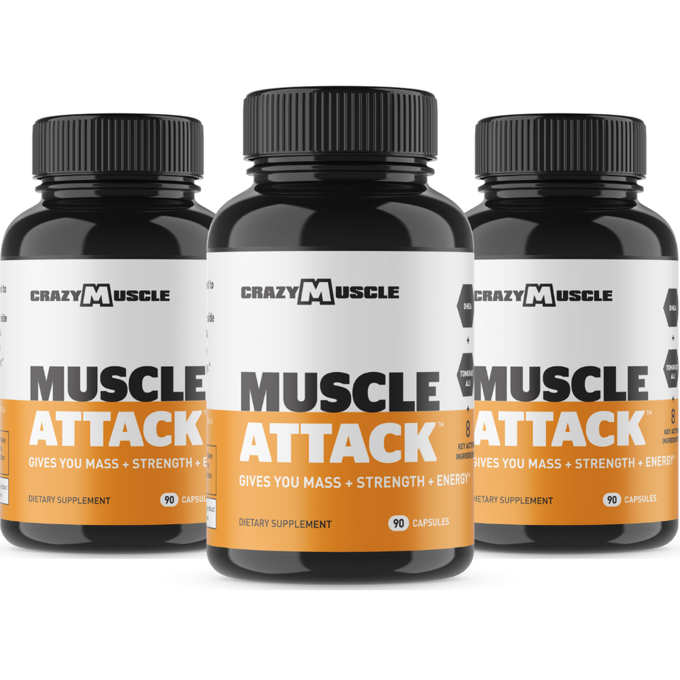Muscle Attack - 3 Bottles