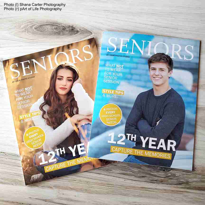 Senior Portrait Magazine Template