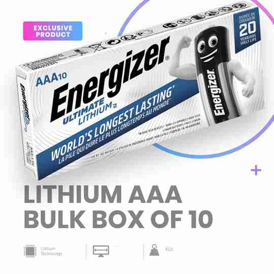 Energizer Lithium 1.5V AAA Batteries