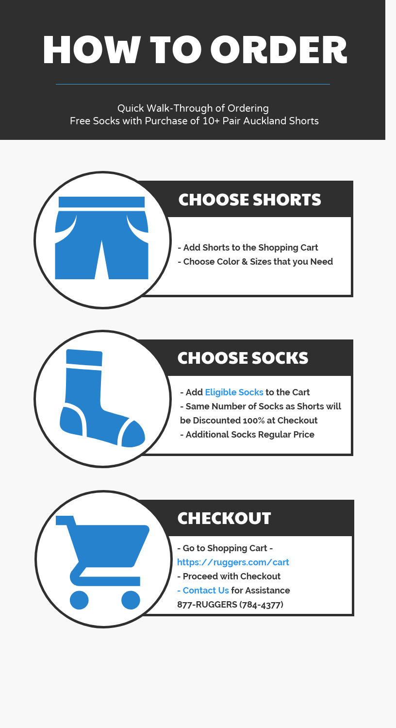 Ruggers Rugby Free Socks with 10+ Pair Shorts