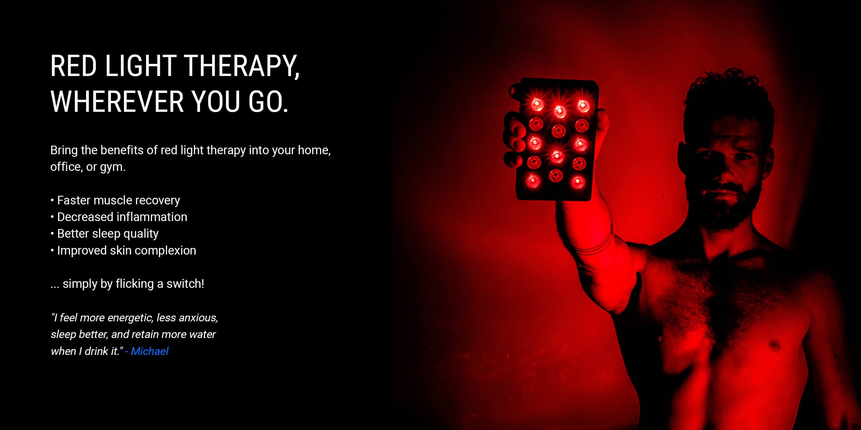 Red light therapy wherever you go