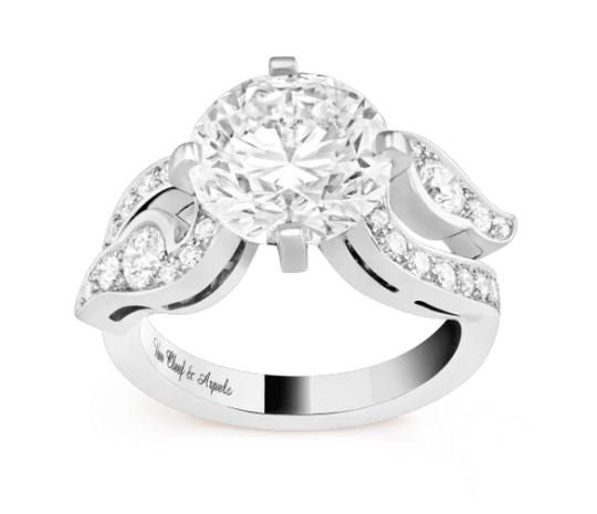 Van Cleef and Arpels decorative ring with large diamond