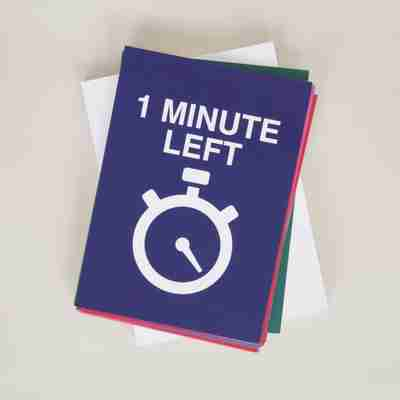 one minute left card
