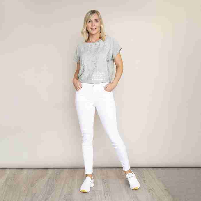 Stretch Waist Cotton Trouser