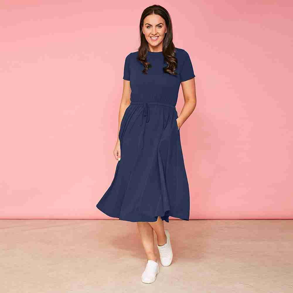 Piper Dress(Navy)