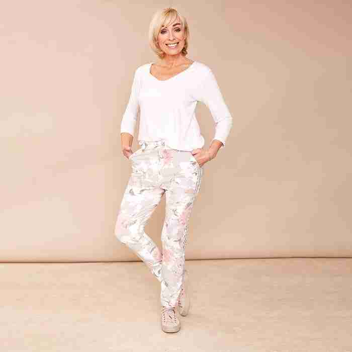 Milly Floral Joggers(Grey)
