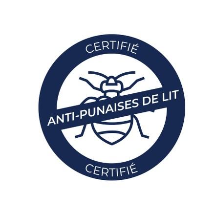 certifié anti punaise de lit