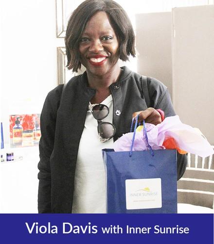Actress VIOLA DAVIS, with INNER SUNRISE Celebrity Gift Bag